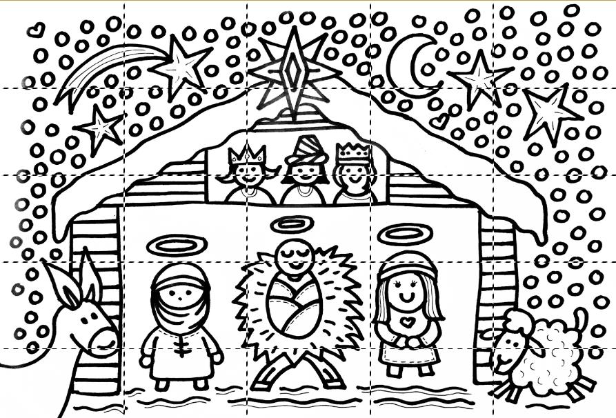Kleurplaten Van Kerststallen.Block Poster Kleurplaten De Knutseljuf Ede